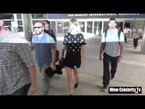 Taylor Swift arriving at LAX Airport in Los Angeles
