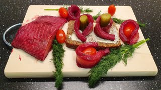 Beetroot Cured Salmon ! How to Make Beetroot Cured Salmon at Home ! Easy Recipe