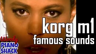 Korg M1 piano and organ | Famous sounds and songs