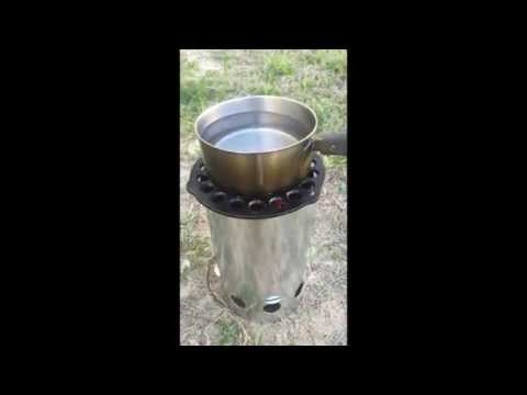 DIY Charcoal Chimney Wood Gas Stove for $10