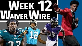 Week 12 Waiver Wire Pickups | 2018 Fantasy Football