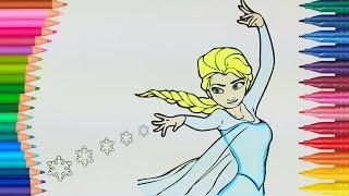 Karlar Krali Esi Elsa Izgi Filmi Boyama Renkleri ğreniyorum Ocuk