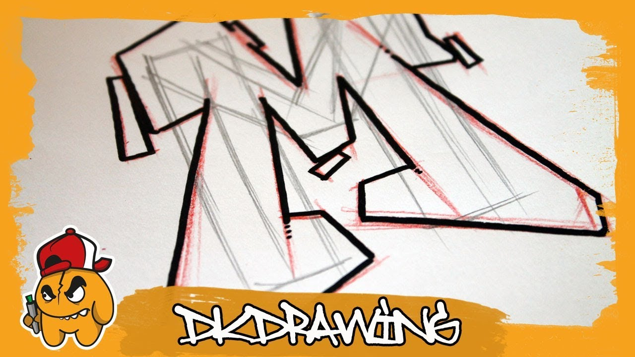 Graffiti Tutorial for beginners - How to draw & flow your graffiti letters  - Letter M