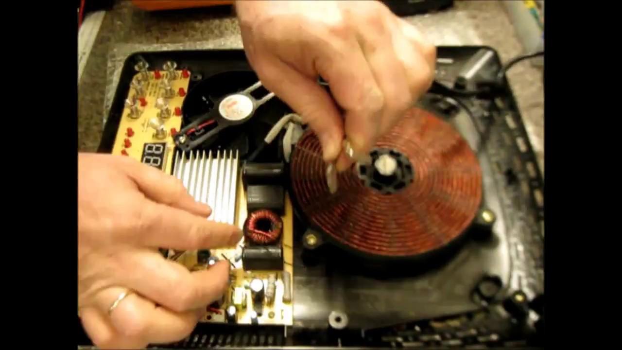 РЕМОНТ ИНДУКЦИОННОЙ ПЛИТЫ, 90% всех поломок Repair induction cooker 90% of all breakdowns
