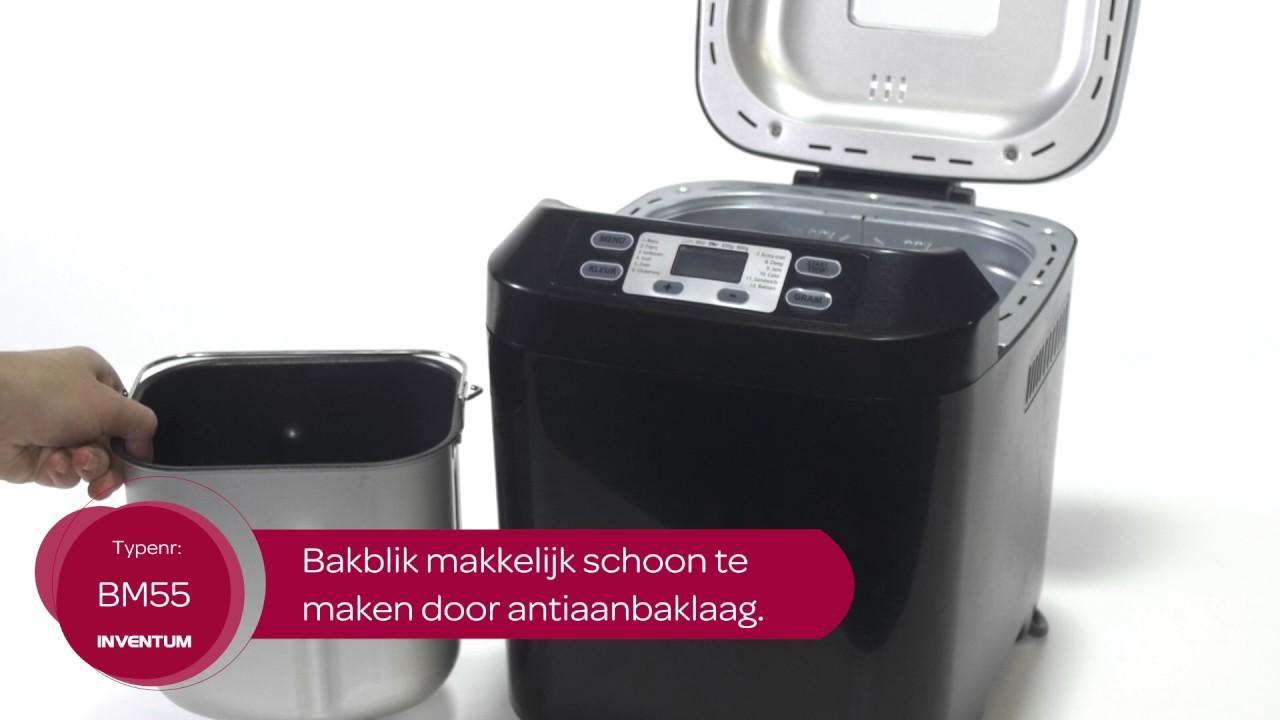 Wonderbaarlijk Inventum BM55 Broodbakmachine - YouTube AW-53