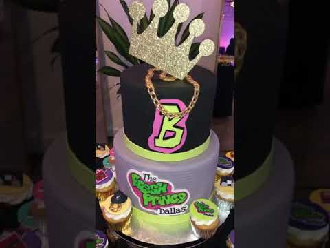 Fresh Prince of Dallas cake and cupcakes!!! - YouTube