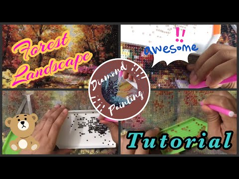 Diamond Painting TIPS & INSTRUCTIONS || Forest Landscape Design || FRANZEL UPLOADS