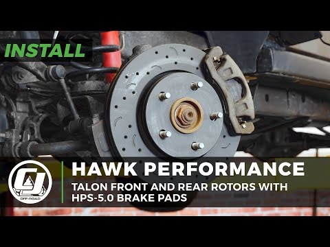 2007-2018 Jeep Wrangler Install | Hawk Performance Talon Rotors With HPS-5.0 Pads
