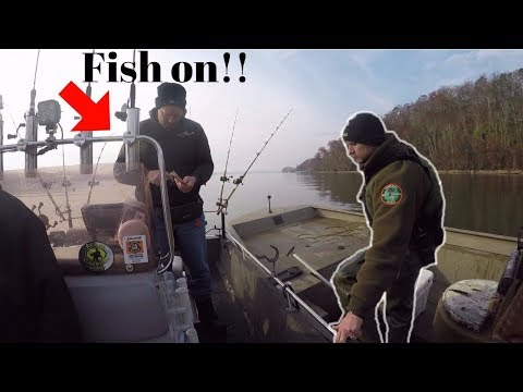 CATCHING CATFISH IN FRONT OF THE GAME WARDEN!!! (Ft. FV-Catfish, Panfish)