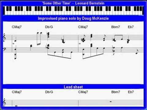 'Some Other Time' (Leonard Bernstein) solo jazz piano lesson