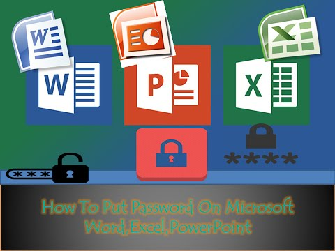 How to put password on microsoft word,excel,powerpoint