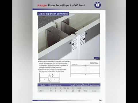 Control Joint Expansion joint dry wall