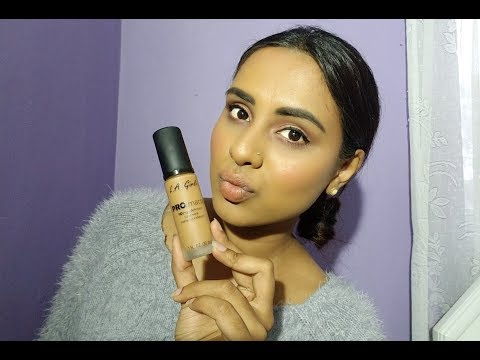 LA GIRL LONG WEAR MATTE FOUNDATION REVIEW AND WEAR TEST|SOUTH AFRICAN YOUTUBER