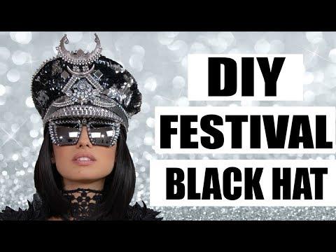 f36ca1bba8c40 DIY Burning Man Black Hat - YouTube