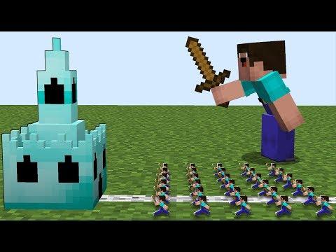 Minecraft Battle Inside Block Noob Army Vs Pro Castle
