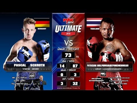 (GERMANY VS THAILAND) Max Muay Thai WORLD FIGHT 2016 (20 MAR 16) Match 5 PASCAL VS PAYAKDAM