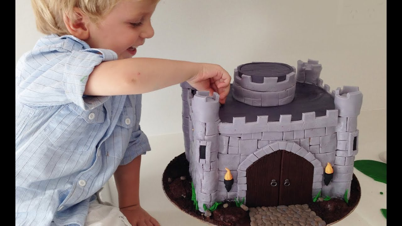 HOW TO MAKE A CASTLE CAKE How To Cook That Castle Cake and Dragon