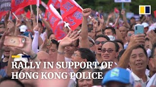 Rally in support of Hong Kong police
