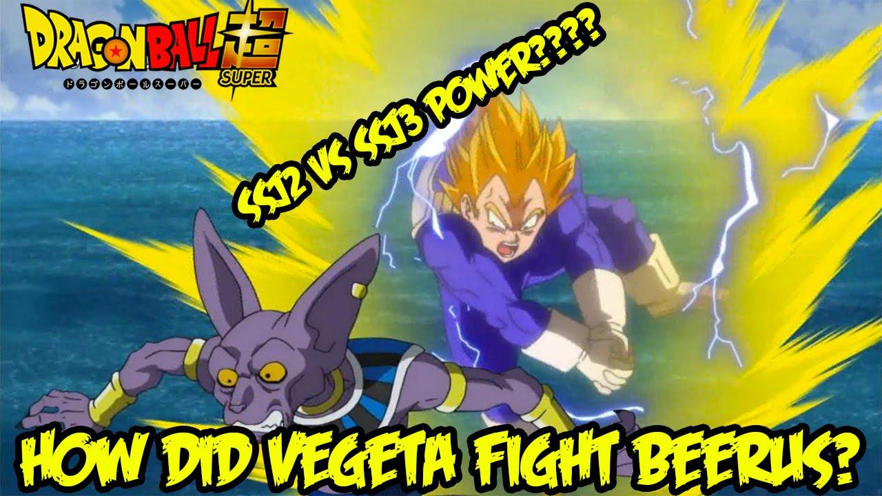 Dragon Ball Super How Did Ssj2 Vegeta Fight Beerus Better Than