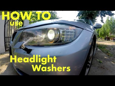 How to use the washers for the headlights  Bmw E90 lci /non lci