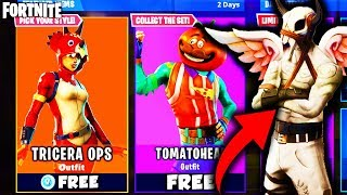 HOW to GET *NEW* TOMATOHEAD & TRICERA OPS SKIN for FREE in FORTNITE BATTLE ROYALE - NEW SECRET SKIN!