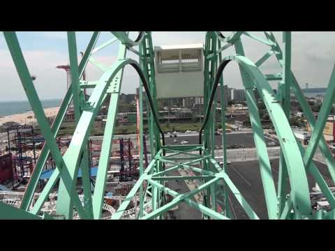 Wonder Wheel Roller Coaster Ferris Wheel POV Deno's Wonder Wheel Park Coney Island New York