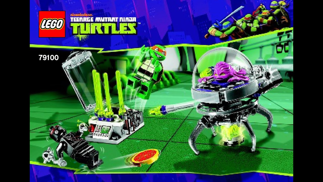 NEW LEGO TMNT Ninja Turtles 79100 Kraang Lab Escape Set /& manual NO MINIFIGURES