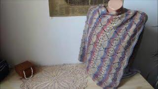 Ажурный палантин (шарф)