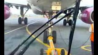 Go Air Flight on Runway.....