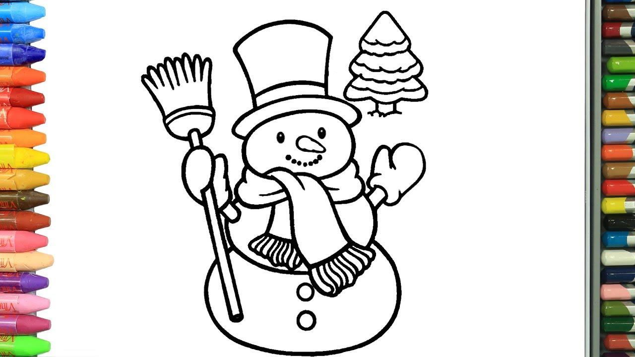 Cómo Dibujar Y Colorear Muñeco De Nieve De Navidad Dibujos Para