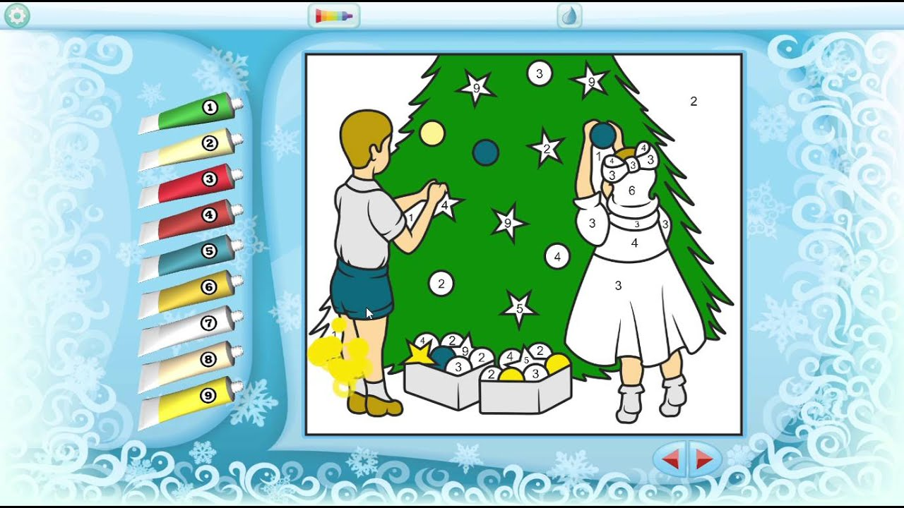 Color by Numbers Christmas Tree Painting - Free Windows 10 App - YouTube