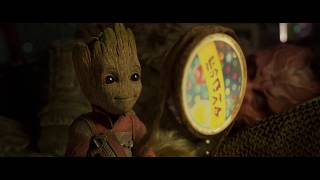 Guardians of the Galaxy Vol. 2 (2017) - groot looks for a red fin (HD)