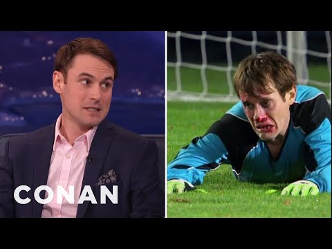 Studio C's Matt Meese Was Repeatedly Hit In The Face By A Soccer Ball   CONAN on TBS