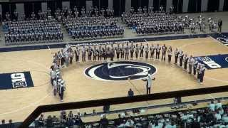 Penn State Blue Band Saxophone Section at Tailgreat Show, October 12, 2013