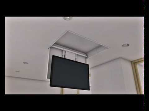 Tv moving mfch staffa tv motorizzata da soffitto - Portapentole da soffitto ...
