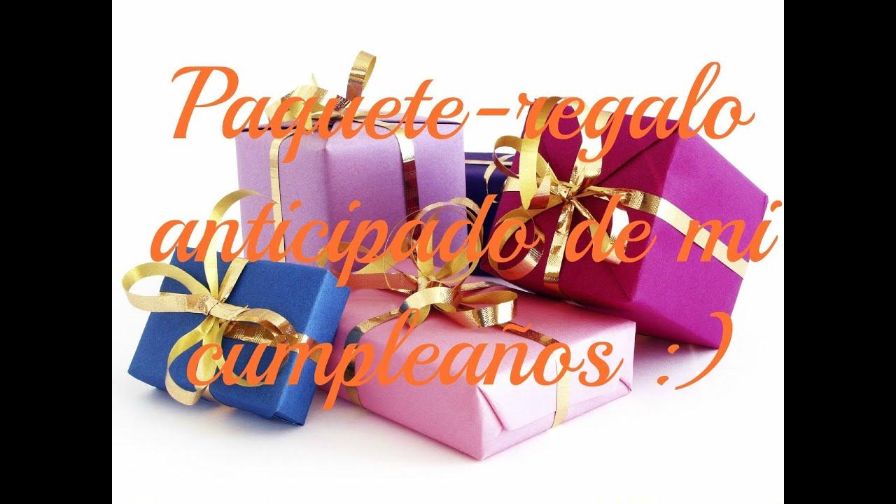 Paquete regalo anticipado de cumplea os saludos - Paquetes de regalo ...