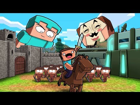 Minecraft - NOOB vs PRO vs HACKER - BUILD TO SURVIVE NOOB ARMY!