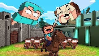 Minecraft - NOOB vs PRO vs HACKER - BUILD TO SURVIVE NOOB ARMY!