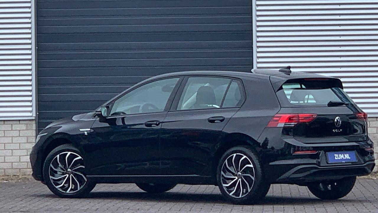 Volkswagen New Golf 8 In 4k 2020 Life Deep Black Pearl 17 Inch Ventura Walk Around Detail Inside Youtube
