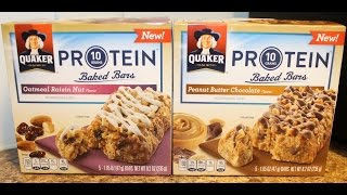 Quaker Protein: Oatmeal Raisin Nut & Peanut Butter Chocolate Review