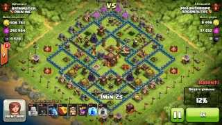 BM097 Balloons and Minions Strategy against champion level opponent Clash of Clans CoC
