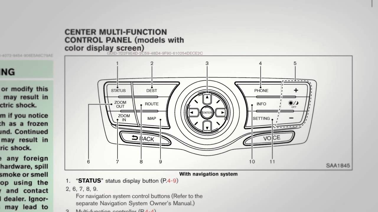 2012 nissan murano navigation system owners manual [ 1280 x 720 Pixel ]