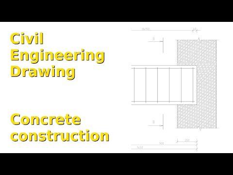 Concrete construction (Civil Engineering Drawing, LibreCAD 2.2)