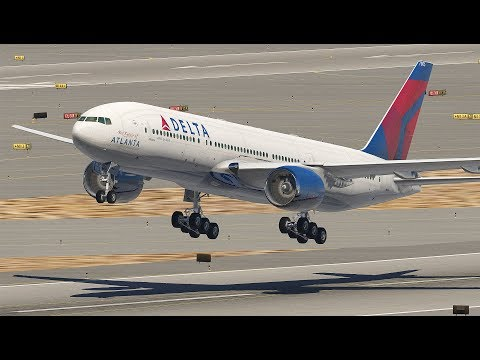 Giant Boeing 777 Take Off After Landing At The Wrong Airport (HD)   X-Plane 11