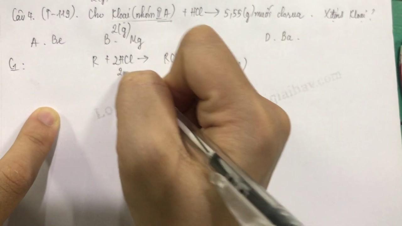 Giải bài 4 trang 119 SGK Hóa học 12