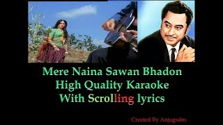 Mere Naina Sawan Bhadon || Mehbooba 1976 || Karaoke With Scrolling Lyrics (High Quality)