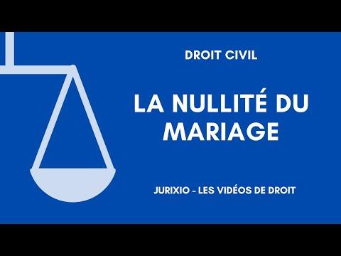 La Nullité Du Mariage - Les Cas De Nullité (1)