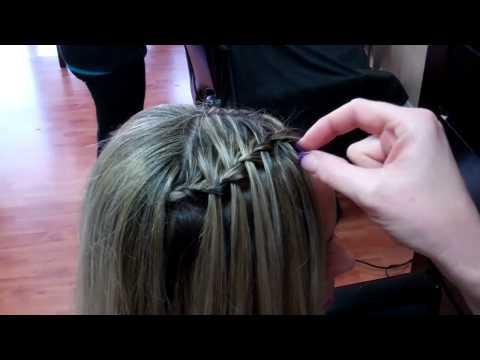 Salon 427 Spring Hill Fl    Up do, Prom hair, water fall bra