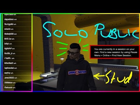 GTA MINUTE - 1 CLICK SOLO PUBLIC LOBBY *PC* FOR GUNRUNNING/BIKERS/CEO WORK IN GTAONLINE