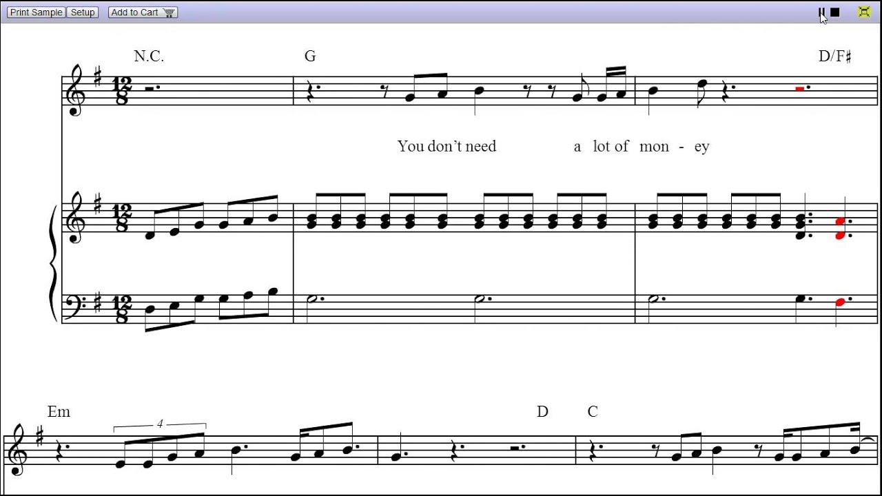 Tattooed heart ariana grande piano sheet music teaser for Tattooed heart ariana grande